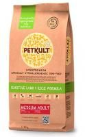 PETKULT DOG MEDIUM ADULT LAMB/RICE 12kg