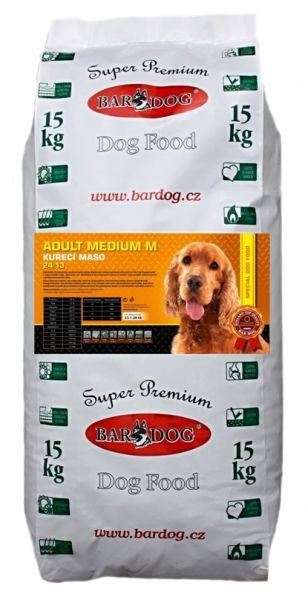 BARDOG ADULT MEDIUM M - KUŘECÍ 15kg