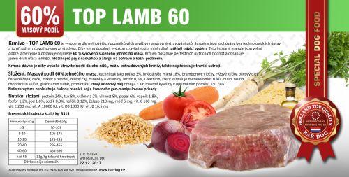BARDOG LISOVANÉ TOP MEAT 60 JEHNĚ 15kg