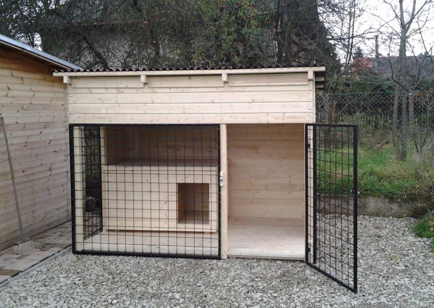 89786725f8b Kotec pro psa o velikosti 2 x 2 x 2 metru je vhodný pro umístění do